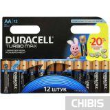 Батарейки Duracell AA Turbomax 1/12