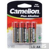 Батарейка АА Camelion Plus Alkaline LR06 1.5V 1/4 шт.