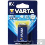 Батарейка 6LR61 9V Varta Крона High Energy Alkaline Щелочная блистер 1 шт 04922121411