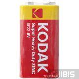 Батарейка Kodak 9V Крона EXTRA HEAVY DUTY 6F22 1 шт. пленка