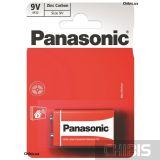 Батарейка 9V Panasonic RED ZINK угольно-цинковая блистер 1 шт
