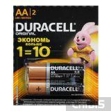 Батарейка АА Duracell Basic (LR06, 1.5V, Alkaline Щелочная) 1/2 шт. отрывная уп.