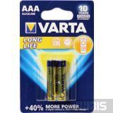 Батарейка Varta AAA Longlife 2 шт в блистере