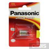 Батарейка Panasonic CR-2L Lithium 3V блистер 1 шт
