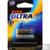 Батарейка CR123 Kodak Ultra Lithium K123 3V