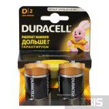 Батарейка LR20 Duracell D Basic 1.5V, Alkaline 1/2 шт.