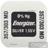 SR44 батарейка 357 / 303 Energizer 1.55V Silver Oxide 1 шт.