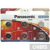 Батарейка CR2032 Panasonic 3 V Литиевая 6/6 шт