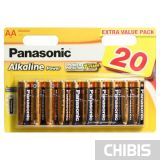 Батарейка АА Panasonic Alkaline Power блистер 20/20 шт LR6REB/20BW