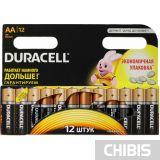 Батарейка АА Duracell Basic LR06 / 1.5V / Alkaline Щелочная 12 шт. в упаковке 5000394006546