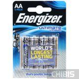 Батарейки energizer ultimate lithium АА 4 шт