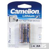 Литиевые батарейки AA Camelion FR6 1.5V 1/2 шт.