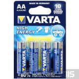 Батарейка АА Varta High Energy LR06 1.5V Alkaline блистер 4 шт.