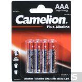 Батарейка AAA LR03 Camelion Plus Alkaline 1.5V блистер 1/4 шт.