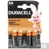 Батарейка АА 1.5V Alkaline Duracell Basic 4 шт