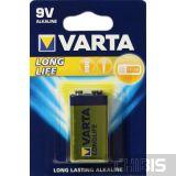 Батарейка Крона 9V 6LR61 Varta Longlife Extra 6F22 / Alkaline 04122101411 1 шт