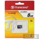 Карта памяти MicroSDHC 8 Gb Transcend без адаптера