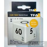 Таймер цифровой TFA куб белый 38203202 - упаковка