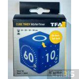 Таймер цифровой TFA куб синий 38203606 - упаковка