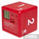 Таймер цифровой TFA куб красный 38.2039.05 - цифровой дисплей