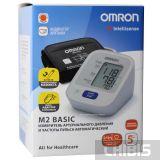 Тонометр Omron M2 Basic 7121 ALRU с адаптером и манжетой 22-42 см